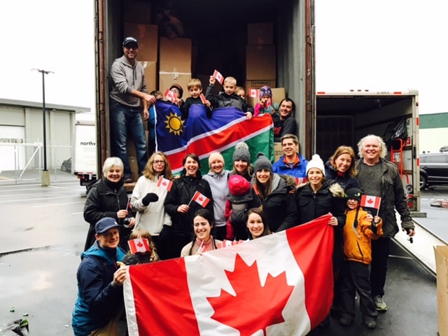 Canadian Container off to Namibia